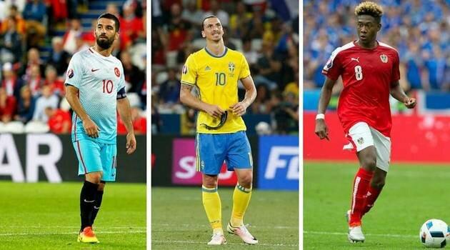 Arda Turan, Zlatan Ibrahimovic, David Alaba
