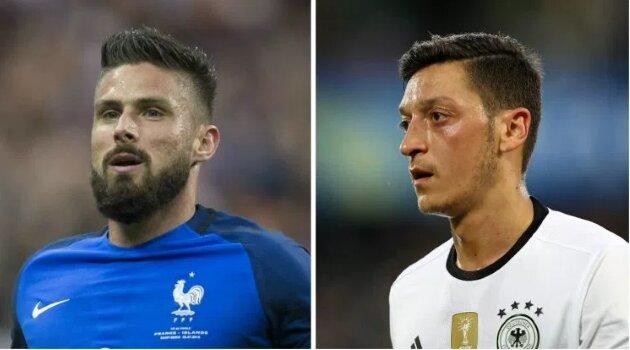 Olivier Giroud (Franţa), Mesut Ozil (Germania)