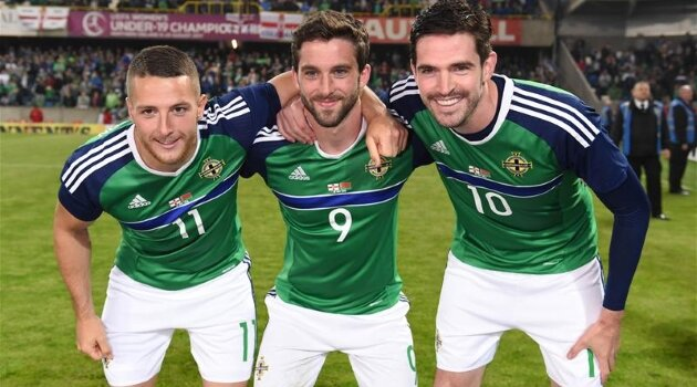 Conor Washington, Will Grigg, Kyle Lafferty (Irlanda de Nord)
