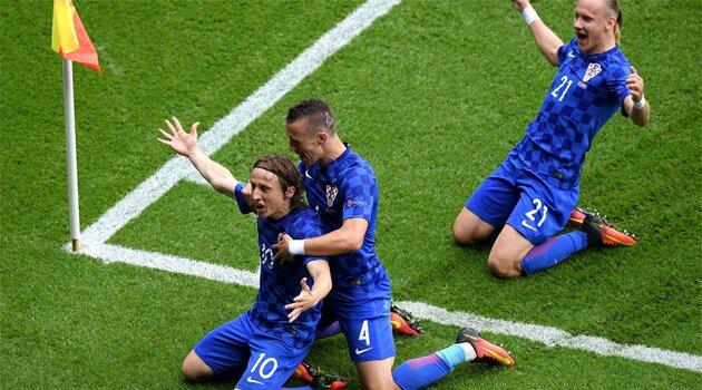 Luka Modric a marcat singurul gol al meciului Turcia - Croaţia 0-1