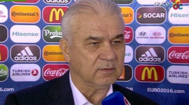 Anghel Iordănescu, după România - Albania (sursa foto:dolce-sport.ro)