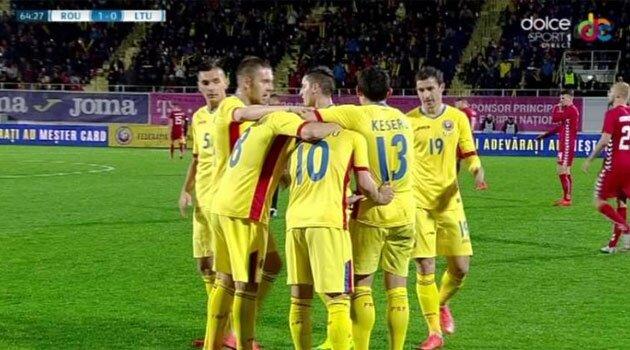 România - Lituania 1-0 (sursa foto:dolcesport.ro)