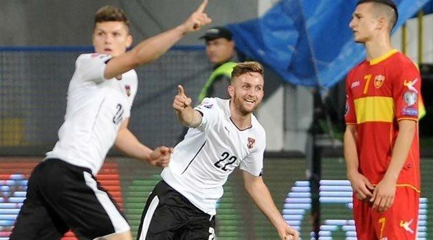 Sabitzer a marcat golul decisiv în meciul Muntenegru - Austria 2-3