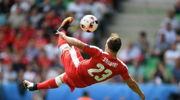 Shaqiri a marcat un gol fabulos în Elveţia - Polonia