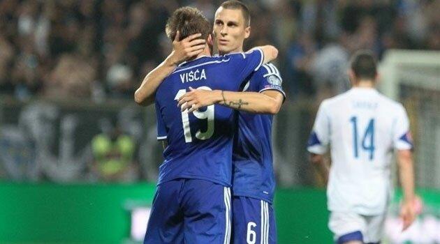 Edin Višća, eroul Bosniei în meciul cu Israel